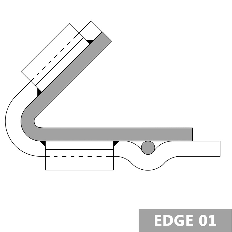 Wire Cloth Screen Edge Hook Clamping Strips