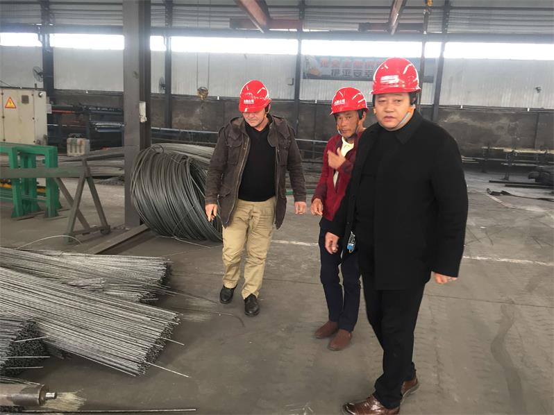 Foreign Customers View The Poduction Process Of Steel Welded Mesh